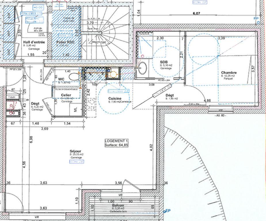 VENDU - Merci de votre confiance - RODEZ - Dans future résidence : appartement 2 pièces 64.58 m2